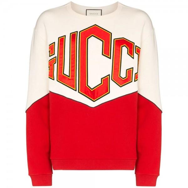 Gucci Logo Sweatshirt Erkek Beyaz