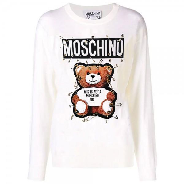 Moschino Toy Bear Sweatshirt Beyaz Kadın
