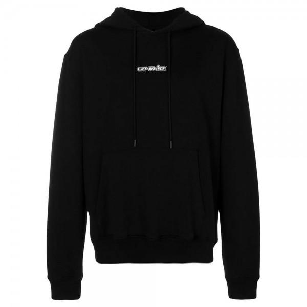Off White Logo Sweatshirt Siyah Erkek