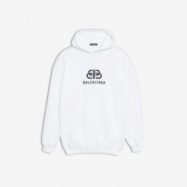 Balenciaga Bb Logo Sweatshirt Beyaz