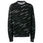 Balenciaga Jacquard Sweatshirt Erkek Siyah