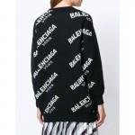 Balenciaga Jacquard Sweatshirt Siyah Kadın