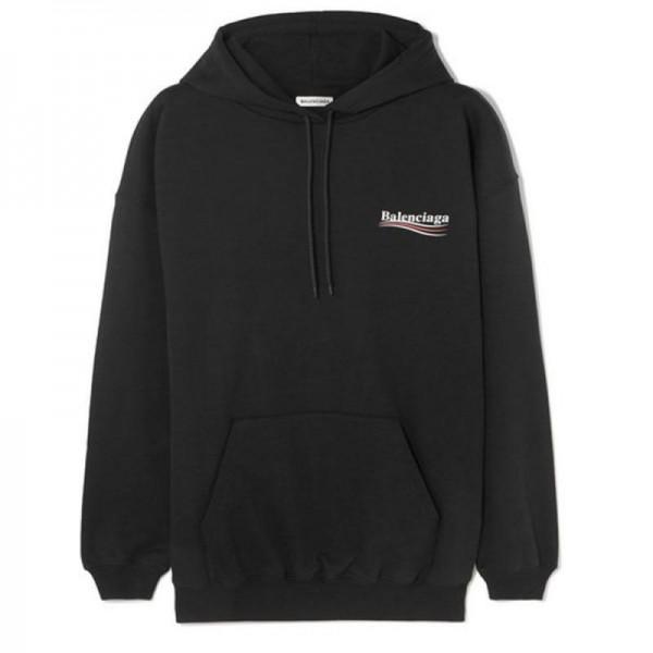 Balenciaga Jersey Sweatshirt Siyah Kadın