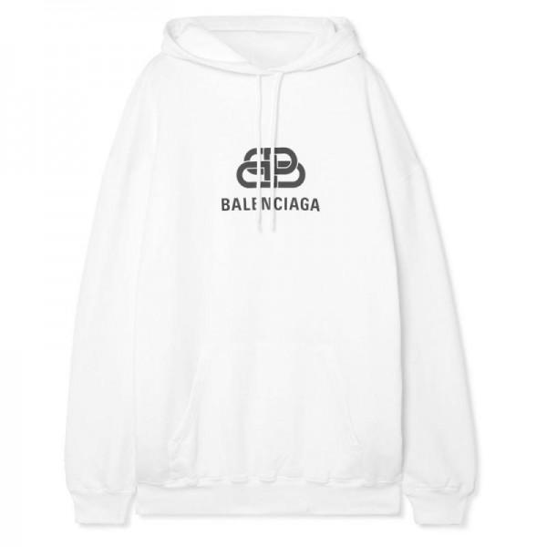 Balenciaga Logo Sweatshirt Kadın Beyaz
