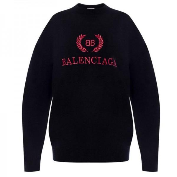 Balenciaga Logo Sweatshirt Kadın Siyah