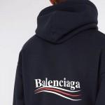Balenciaga Logo Sweatshirt Lacivert Erkek