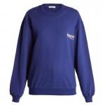 Balenciaga Logo Sweatshirt Mavi Kadın
