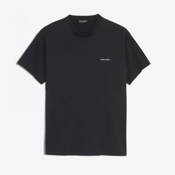 Balenciaga Logo Tişört Siyah Erkek