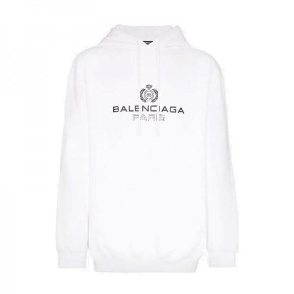 Balenciaga Paris Sweatshirt Beyaz