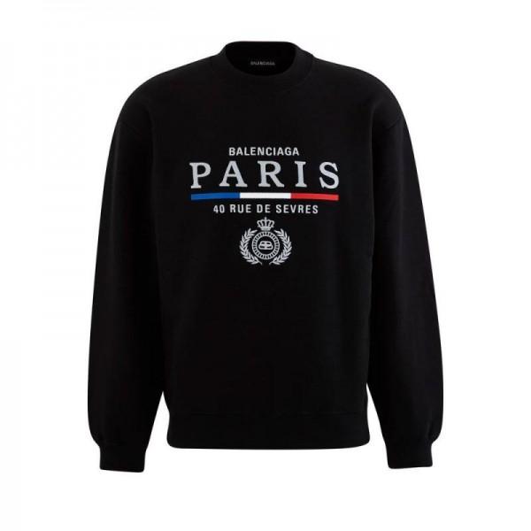 Balenciaga Paris Sweatshirt Siyah