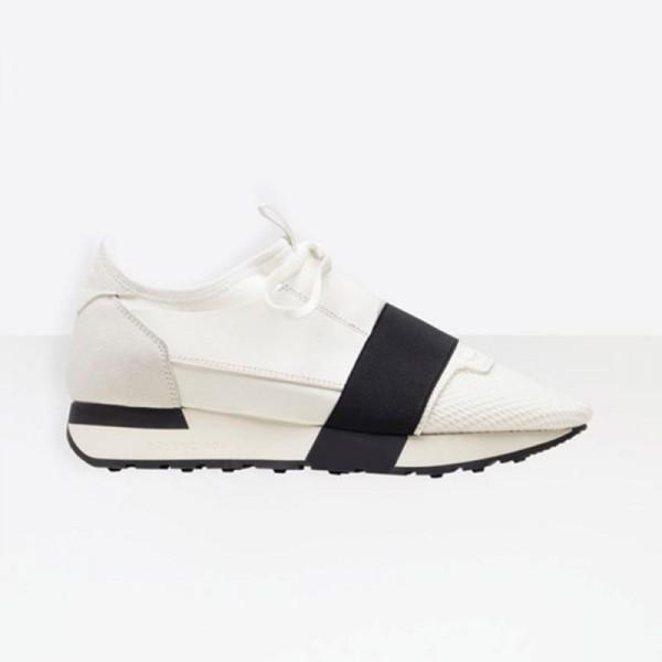 Balenciaga Race Runner Ayakkabı Beyaz Kadın
