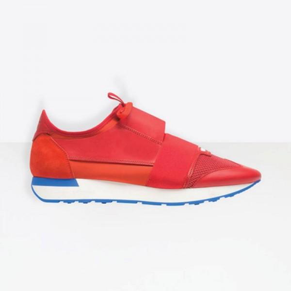 Balenciaga Race Runner Ayakkabı Kırmızı Erkek