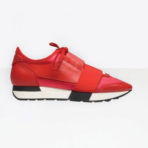 Balenciaga Race Runner Ayakkabı Kırmızı Kadın