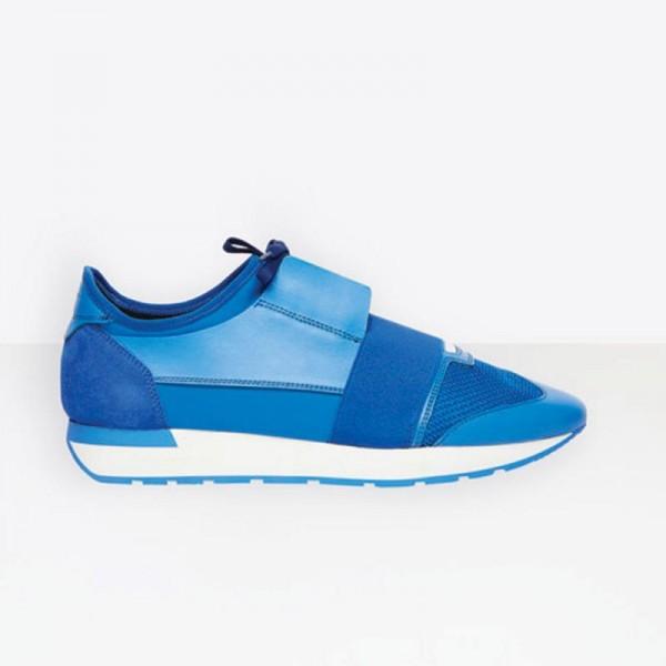 Balenciaga Race Runner Ayakkabı Mavi Erkek