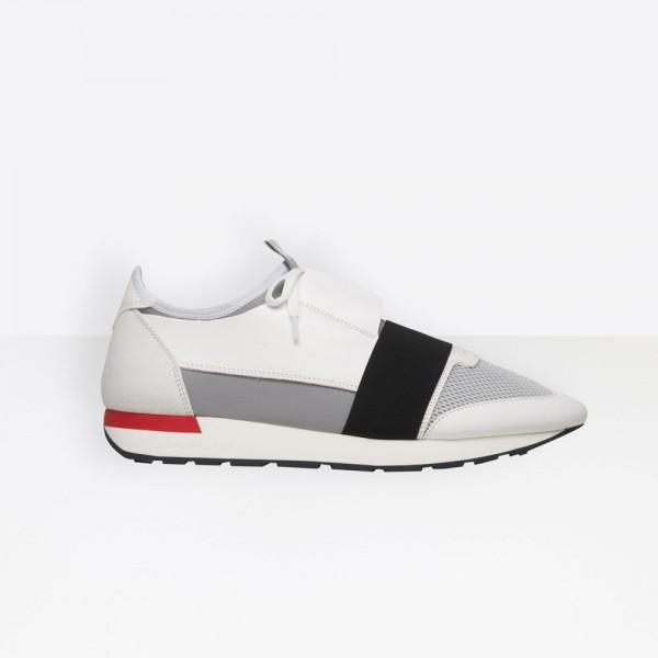 Balenciaga Race Runner Erkek Ayakkabı Beyaz