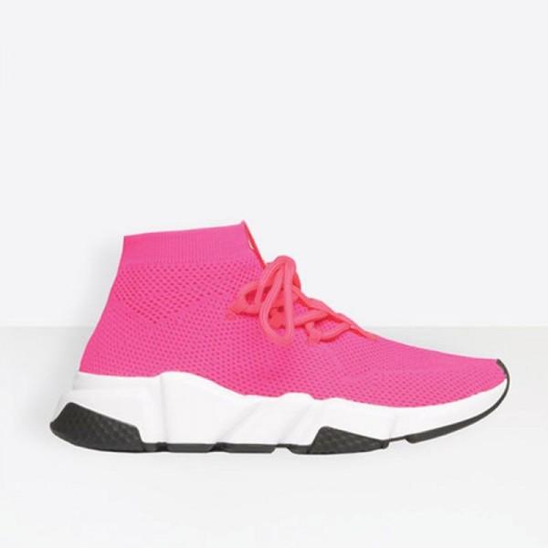 Balenciaga Speed Trainers Ayakkabı Kadın Pembe