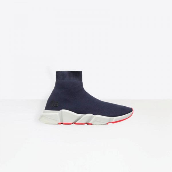 Balenciaga Speed Trainers Ayakkabı Mavi Erkek