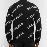 Balenciaga Logo Sweatshirt Siyah Erkek