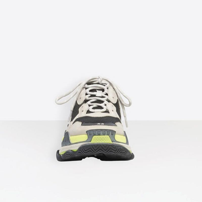 Excellent Balenciaga Triple S Clear Sole Grey Color By