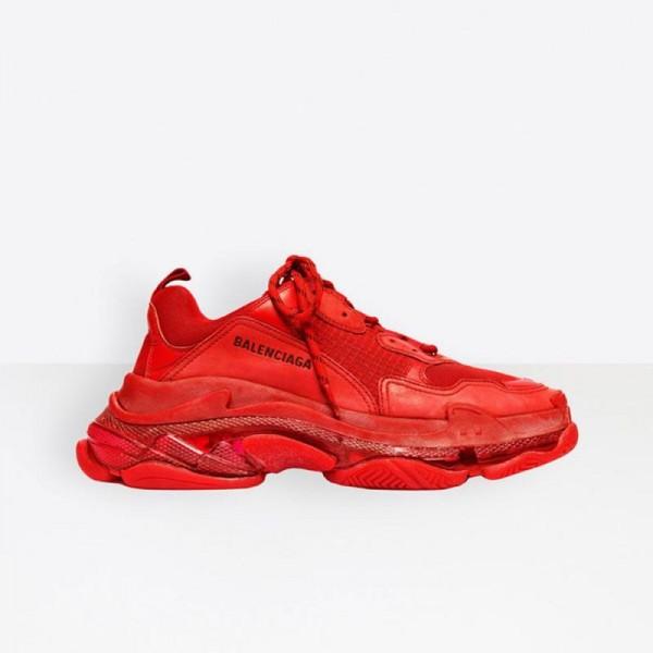 Balenciaga Triple S Ayakkabı Erkek Kırmızı