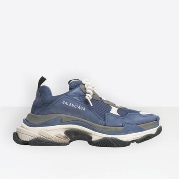 Balenciaga Triple S Ayakkabı Erkek Mavi