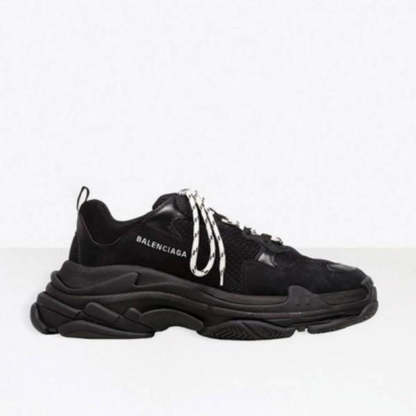 Balenciaga Triple S Ayakkabı Erkek Siyah