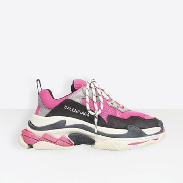 Balenciaga Triple S Ayakkabı Kadın Pembe