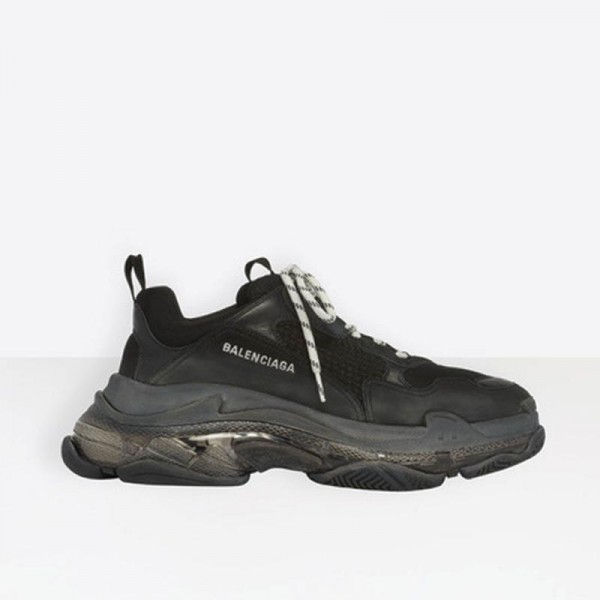 Balenciaga Triple S Ayakkabı Kadın Siyah