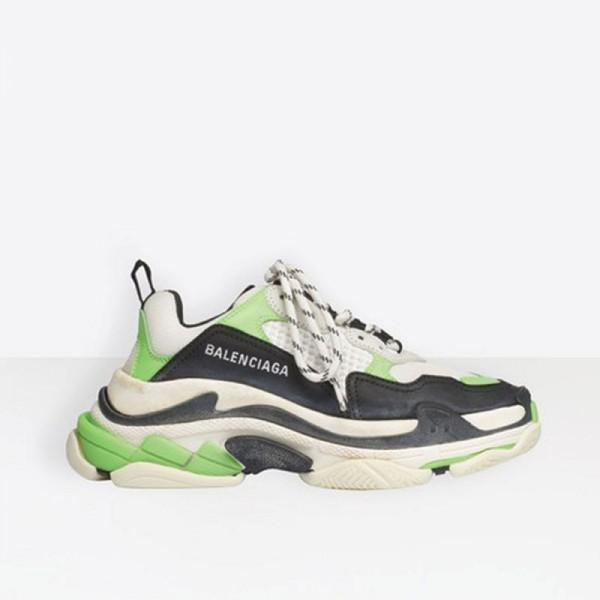 Balenciaga Triple S Ayakkabı Kadın Yeşil