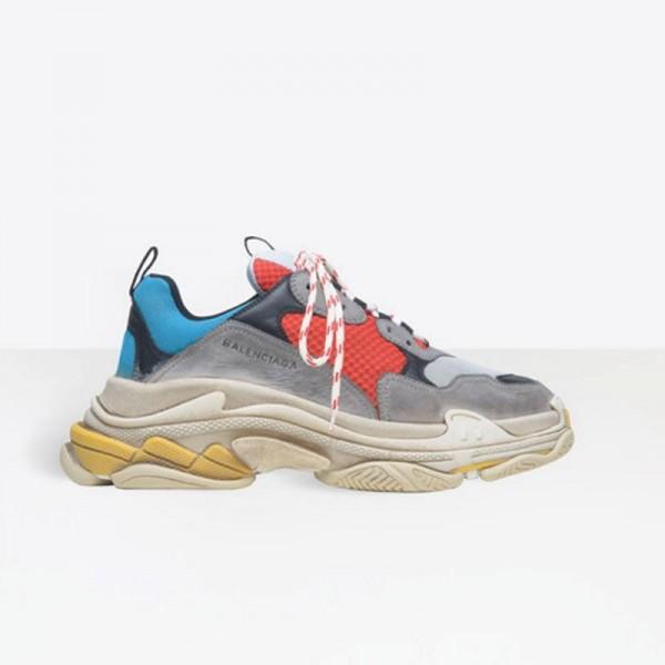 Balenciaga Triple Trainer Ayakkabı Kırmızı Erkek