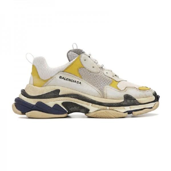Balenciaga Triple Trainer Ayakkabı Sarı Kadın