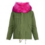 Balmain Fur Parka Yeşil Kadın