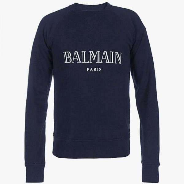 Balmain Paris Sweatshirt Erkek Lacivert