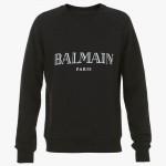 Balmain Paris Sweatshirt Erkek Siyah