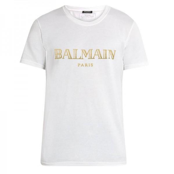 Balmain Paris Tişört Beyaz Erkek