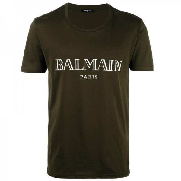 Balmain Paris Tişört Yeşil Erkek