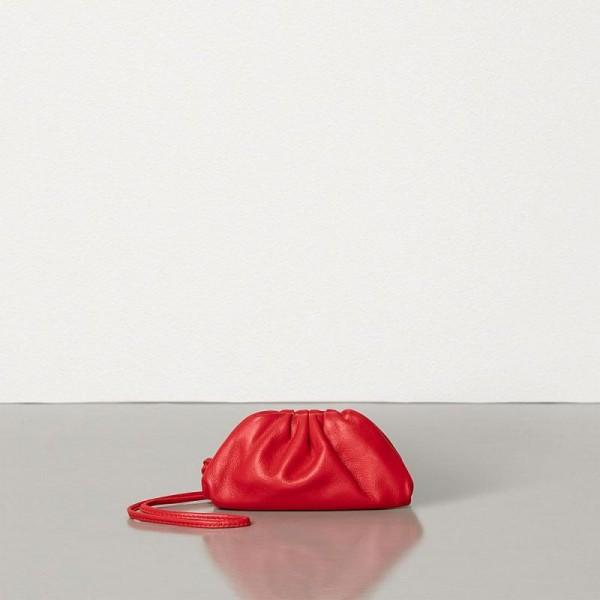 Bottega Veneta Coin Purse Çanta Kadın Kırmızı