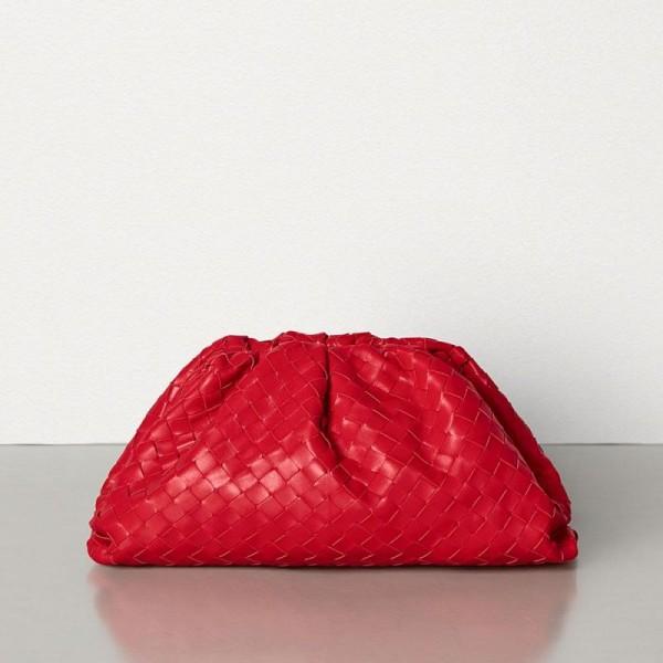 Bottega Veneta Pouch Çanta Kadın Kırmızı