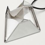 Bottega Veneta Pyramid Çanta Kadın Gümüş