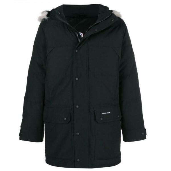 Canada Goose Raincoat Mont Siyah Erkek