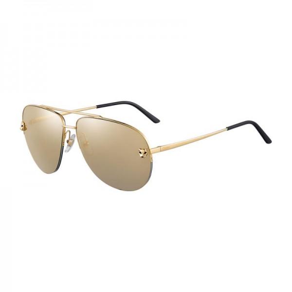 Cartier Panthere Gözlük Sari Güneş Gözlüğü
