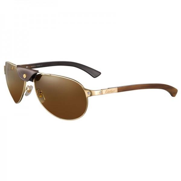 Cartier Santos Gözlük Kahverengi Güneş Gözlüğü