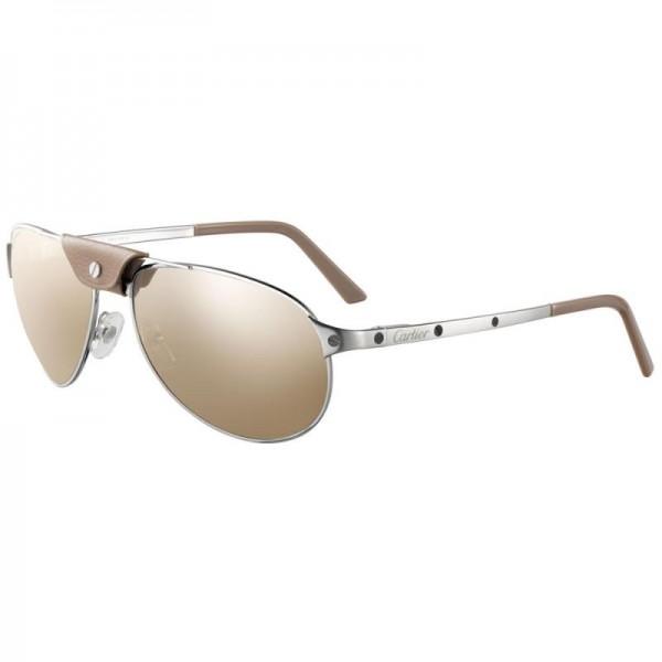 Cartier Santos Gözlük Krem Güneş Gözlüğü