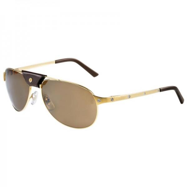 Cartier Santos Gözlük Sarı Güneş Gözlüğü