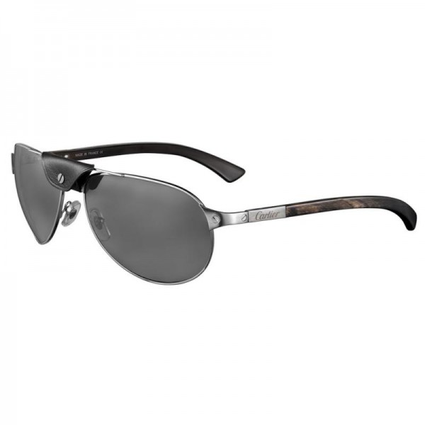 Cartier Santos Gözlük Siyah Güneş Gözlüğü