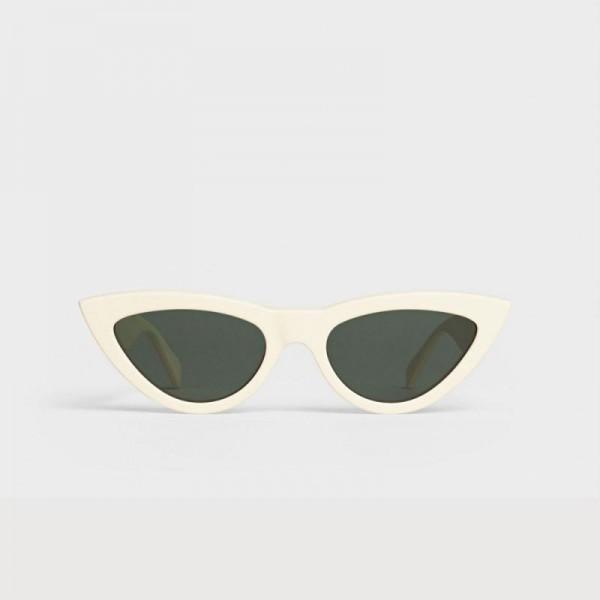 Celine Cat Eye Gözlük Güneş Gözlüğü Beyaz