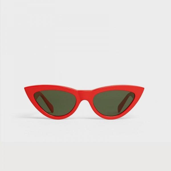 Celine Cat Eye Gözlük Güneş Gözlüğü Kırmızı