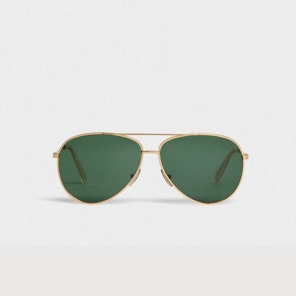 Celine Metal Gözlük Güneş Gözlüğü Sarı