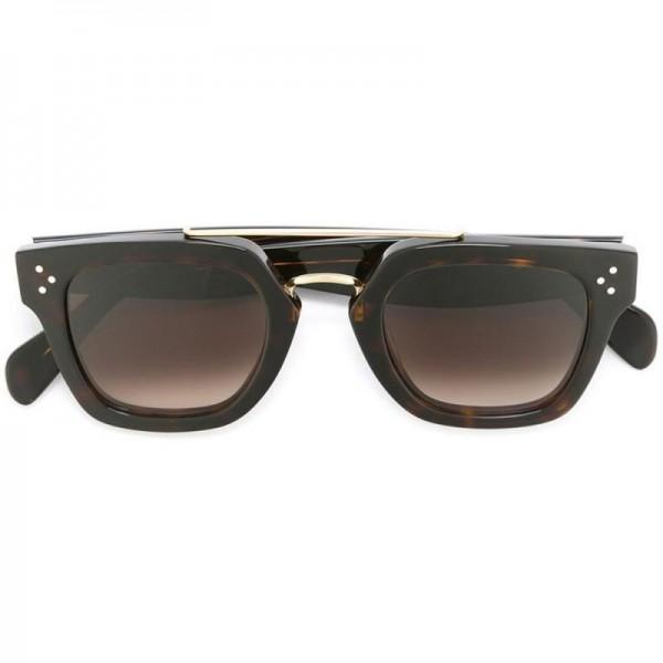 Celine Square Gözlük Kahverengi Güneş Gözlüğü