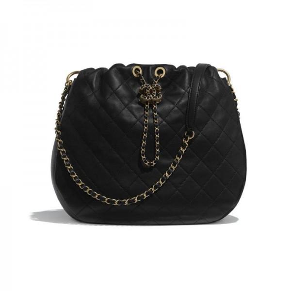 Chanel Drawstring Çanta Kadın Siyah